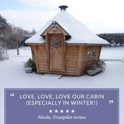 Arctic Cabins Customer review nicola trustpilot 5